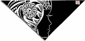 Kess InHouse Maria Bazarova Horoscope Virgin 白色黑色宠物手帕和围巾,58.42 x 43.18 厘米