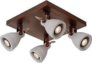 Lucide CONCRI-LED – 天花板聚光灯 – 直径 9 厘米 – LED DIM – GU10 – 4x5W 3000K – 铜