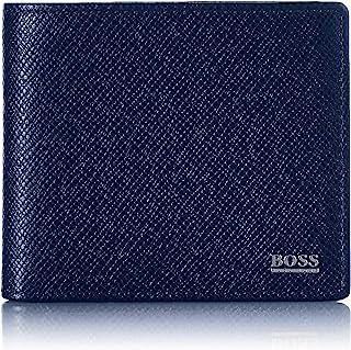 BOSS 男士 Signature 8 cc 钱包 经典系列 Palmellato 皮革 Dark Blue401 ONESI