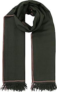 Shoreditch 男式美利奴羊毛大码围巾黑色