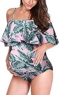 Ru Sweet 女士夏季条纹连身衣休闲宽松短袖连身衣无口袋连身衣