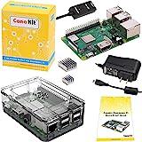 CanaKit 覆盆子 Pi 3 B+ (B Plus) 带优质透明外壳和 2.5A 电源