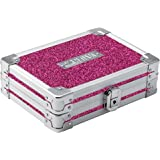 Vaultz 锁定迷你供应盒,粉色闪亮,型号:VZ01109