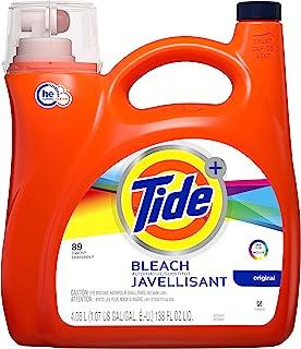 Tide Plus Bleach Alternative 液体洗衣液,原香味,HE 涡轮清洁剂,138 盎司,72 次装