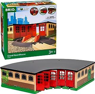 BRIO World 33736 大型圆形车库   3岁及以上儿童的玩具火车配件,2件