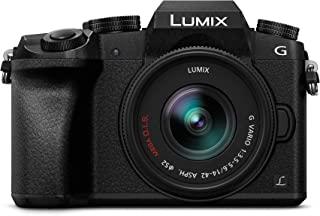 Panasonic Lumix DMC-G7 16 MP 数码相机套件和标准变焦镜头 LUMIX G Vario 14-42 mm,黑色DMC-G7KEC-K 西班牙版 黑色