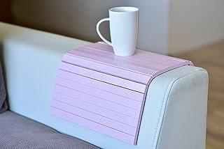 木质沙发扶手托盘扶手桌沙发桌垫沙发托盘电视托盘 粉红色 sofaarmpink