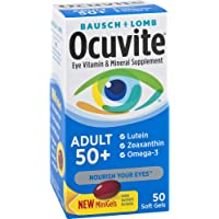 Ocuvite 成人维生素和矿物质补充剂,50支软凝胶,适合50岁+