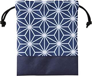 ASTRO 荷包袋 迷你尺寸 藏青色 麻叶图案 珠宝袋 饰品 储物袋 收纳小物件 便携用 880-13