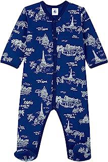 Petit Bateau 蓝色*蓝巴黎婴儿连脚服 | 婴儿睡衣