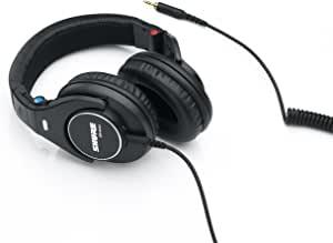 舒尔 SRH840 封闭式耳机 / 耳塞 黑色 高级 参考耳机 / 演播室耳机 降噪 可折叠 可换电缆 频率响应(低音,中音,高音) 精确调整