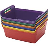 ECR4Kids 带把手的婴儿篮,多色,6件装 小号 ELR-20516-AS 6