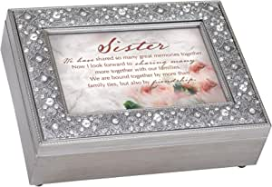 Cottage Garden 金银丝珠宝音乐盒播放旋律曲调 Sister We Are Bound Together 8x6 FM171GB