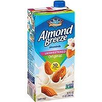 Almond Breeze 无乳杏仁奶 32 Fl Oz (Pack of 12)