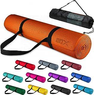 Xn8 运动瑜伽垫 6 毫米柔软防滑带便携包和肩带超厚 ABS 锻炼健身健身垫