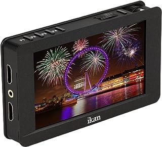 Ikan 5 英寸 4K 支持 HDMI 摄像机现场监视器,带触摸屏,黑色 (DH5e)