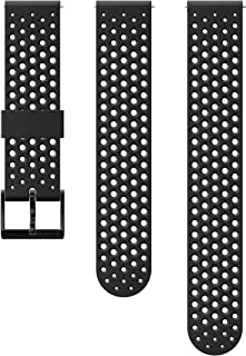 Suunto 颂拓 表带, 20 毫米,硅胶,黑色运动, S+M: 120-230 毫米