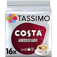 Tassimo Costa Americano 咖啡豆莢(5個,共80個豆莢,80份),144克(16 x 9 克)