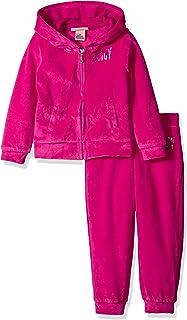 Juicy Couture 橘滋 女童 2件套(夾克和褲子套裝) 桃紅色 8/10