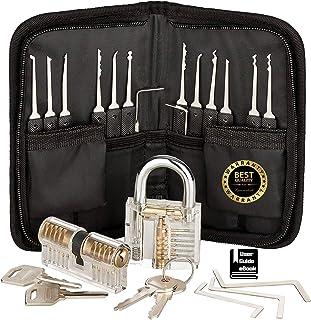 MZG-story 多功能工具套装 - 不锈钢,训练套件,特别设计,多功能使用,专业 17 件(黑色)