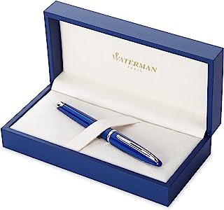 Waterman 威迪文 Carène 钢笔,亮蓝色,带钯镀边,细笔尖,带蓝色墨囊,礼盒