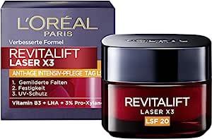 L'Oréal Paris 巴黎欧莱雅 复颜光学X3系列 LSF20锁龄面霜/日霜 50ml,含维生素B3 & 3%玻色因(Pro-Xylane),防止肌肤因紫外线日照而松弛