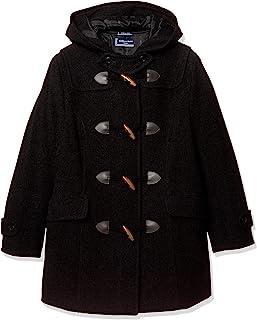 [橄榄色学院] 带拉链的粗呢大衣 [炭灰色] 女孩 JC752-08 炭灰色 日本 LL (日本尺寸S相当)