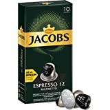 Jacobs Espresso Ristretto 浓缩瑞丝翠朵胶囊咖啡 铝制胶囊 适用于Nespresso胶囊式咖啡机…