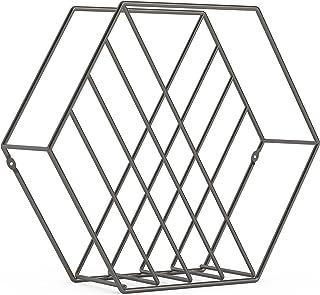 umbra 杂志架 6角形 钢制 杂志收纳 钛 W375×D120×H330mm ZINA 21008973378