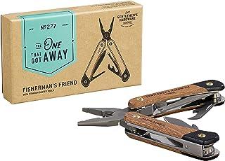 Gentlemen Hardware Fisherman's Friend 7 合 1 钓鱼多工具带木手柄和钛涂层钢工具