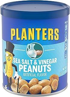 PLANTERS 盐和醋花生(6盎司/170克 罐装,8件)