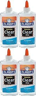 Elmer's 液体胶水,可清洗,9 盎司(约 268.3 毫升),1 包 4 个