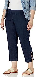 SLIM-SATION 女式加大码纯色紧身裤