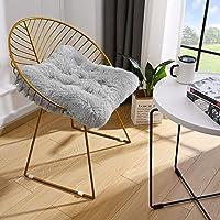 Lascpt 坐垫椅垫,超柔软加厚餐厅椅垫,舒适毛绒地板垫适用于露台沙发椅套,方形 50.8 x 50.8 厘米家居装饰…