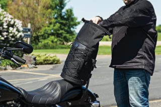 Kuryakyn 5223 Momentum Deadbeat 可扩展摩托车旅行行李箱:防风雨行李袋,带 Sissy 条带,黑色