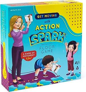 动作动词卡地板游戏,儿童互动和运动游戏,儿童教育学习材料