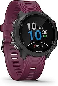 Garmin 佳明 Forerunner 245-GPS跑步手表,具有个性化的训练计划,特殊的跑步功能和详细的训练分析。 1.2英寸(3厘米)彩色显示屏,电池寿命长达7天,防水