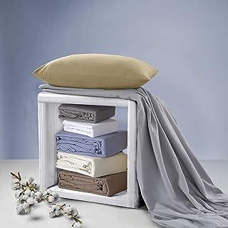 Velvet 法兰绒枕套,65 x 65厘米,卡布奇诺,2件