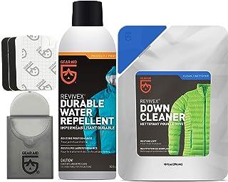 Gear Aid Revivex 羽绒护理套件,适用于夹克和睡袋,含羽绒清洁剂和修补补丁