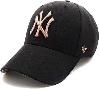'47 Brand MLB 纽约洋基队 MVP 棒球帽帽子黑色/金属玫瑰金