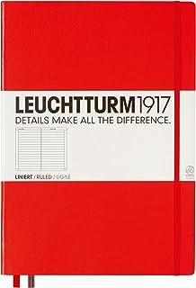 LEUCHTTURM1917 灯塔大开经典横格笔记本红色硬封皮(A4)