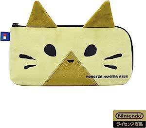 Hori [任天堂许可商品] 怪物猎人RISE 收纳袋 适用于Nintendo Switch 猎人猫