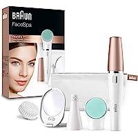 BRAUN 博朗 FaceSpa 851V 3合1去毛器,用于脸部去毛,清洁刷系统
