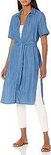 BCBGeneration 女式短袖防尘衣,腰部系带
