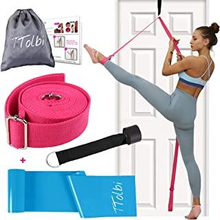 TTolbi 腿部伸展器:拉伸门弹力带提供灵活性   分离训练器:舞蹈设备适用于芭蕾舞、拉拉队、体操
