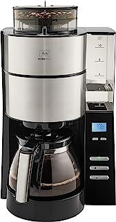Melitta AromaFresh 1021-01 过滤咖啡机 带有一体式磨豆机,约10杯容量,黑色