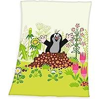Herding 小鼹鼠柔软毛毯,涤纶,多色,75 x 100厘米