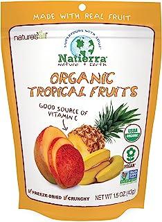 Natierra Nature's All Foods 冻干酥脆水果片, 热带水果味道, 1.5盎司(42.45克)