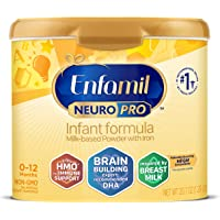 Mead Johnson 美赞臣 NeuroPro婴儿奶粉-0-12个月,可重复使用的奶粉桶,20.7盎司/约586.8…