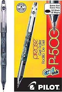 PILOT 百乐 Precise P-500 中性笔,特细,黑色墨水,12支(38600)